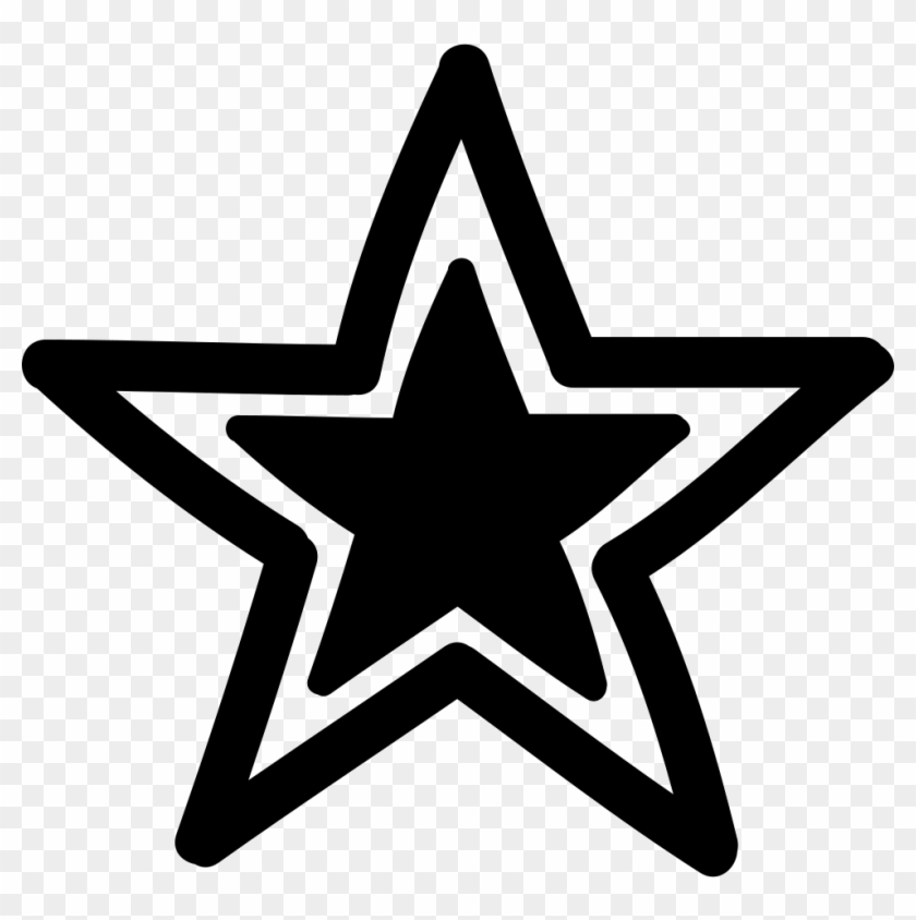 Star Outline With Black Smaller Star Inside Comments - Dallas Cowboys Clipart #257855