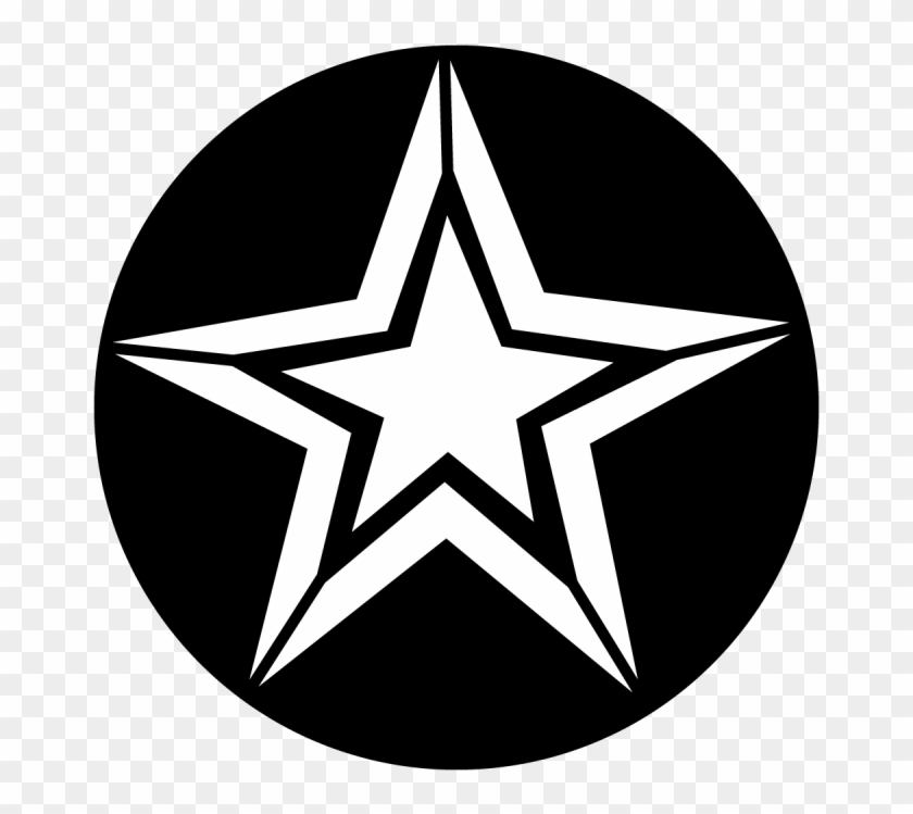 Star With Outline - Us Army Girlfriend Sticker Clipart #258287