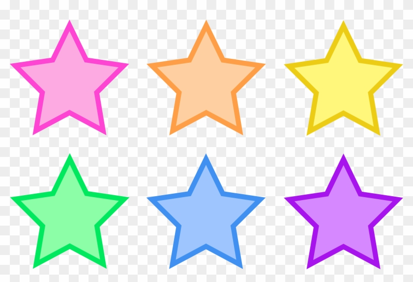 Star Clip Art Outline Free Clipart Images - Free Printable Colored Stars - Png Download #258344