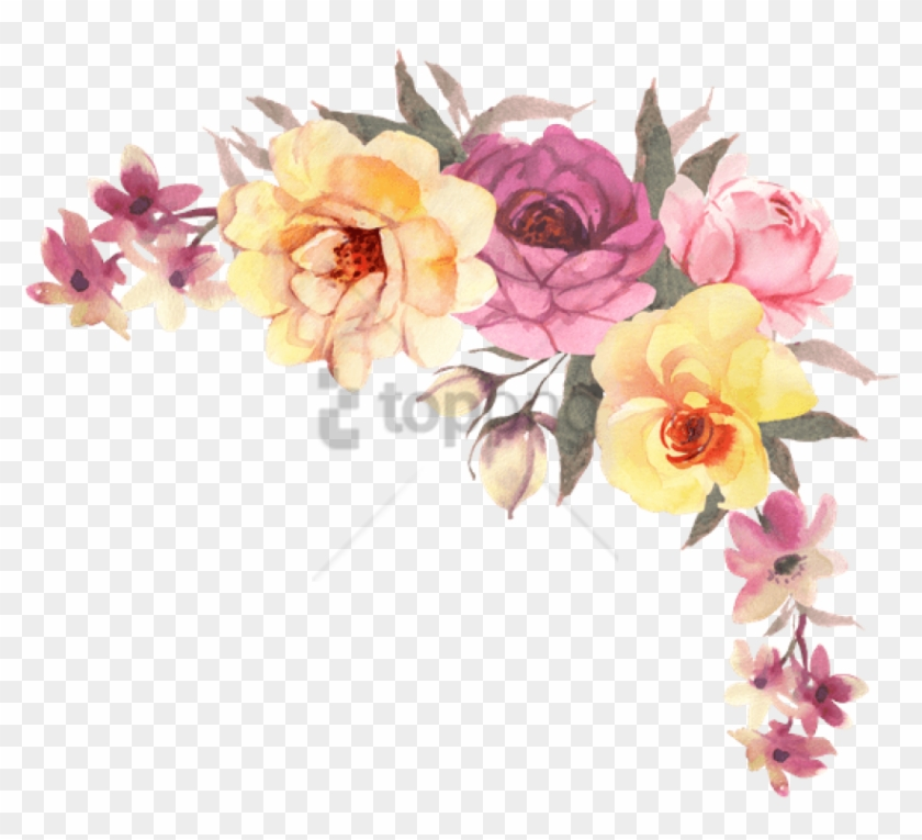 Free Png Transparent Watercolor Flowers Png Image With - Watercolor Flower Bouquet Transparent Clipart #2502092