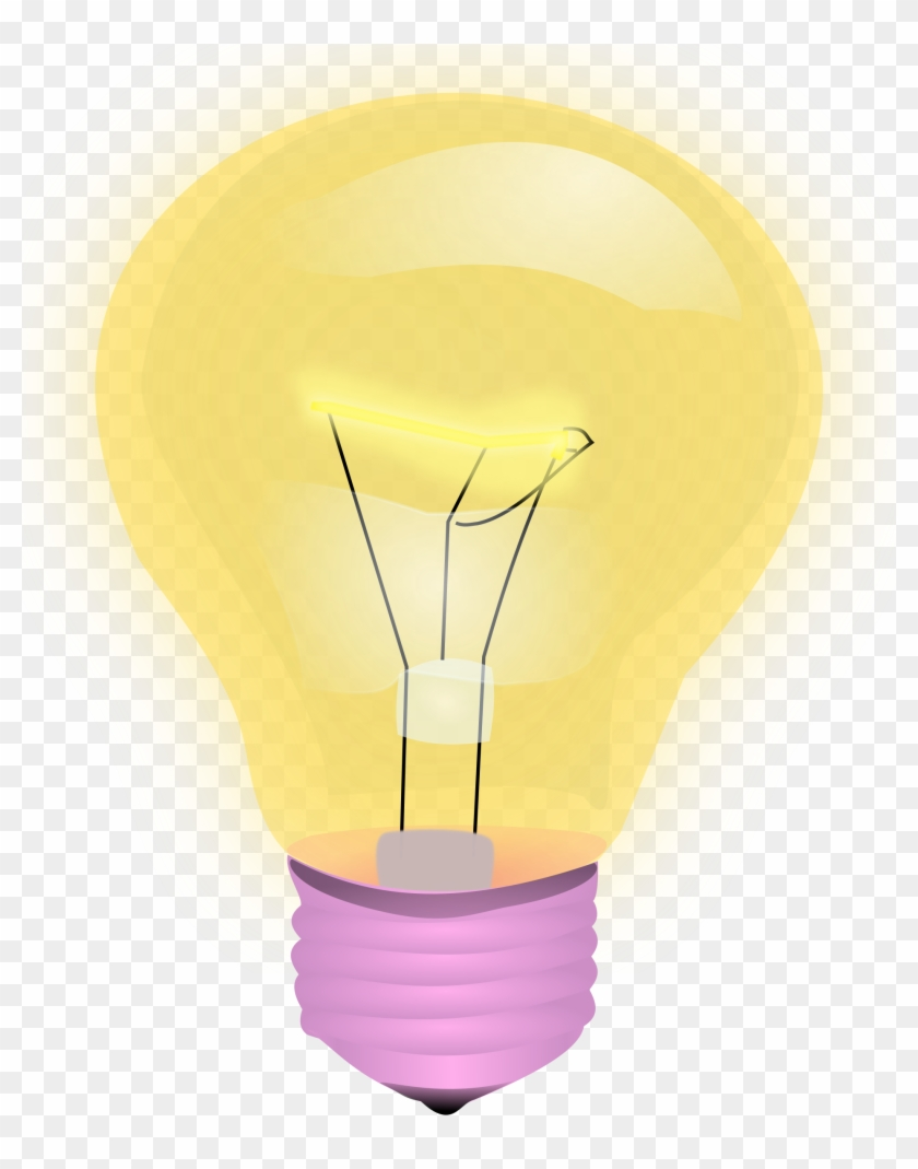Light Bulb Vector Clipart Image Free Stock Photo Public - Sky Lantern - Png Download #2505489