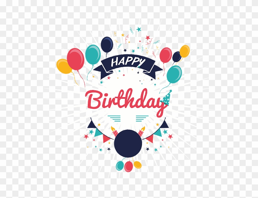 Free Happy Birthday Greeting Templets - Birthday Vector Free Download Clipart #2507266