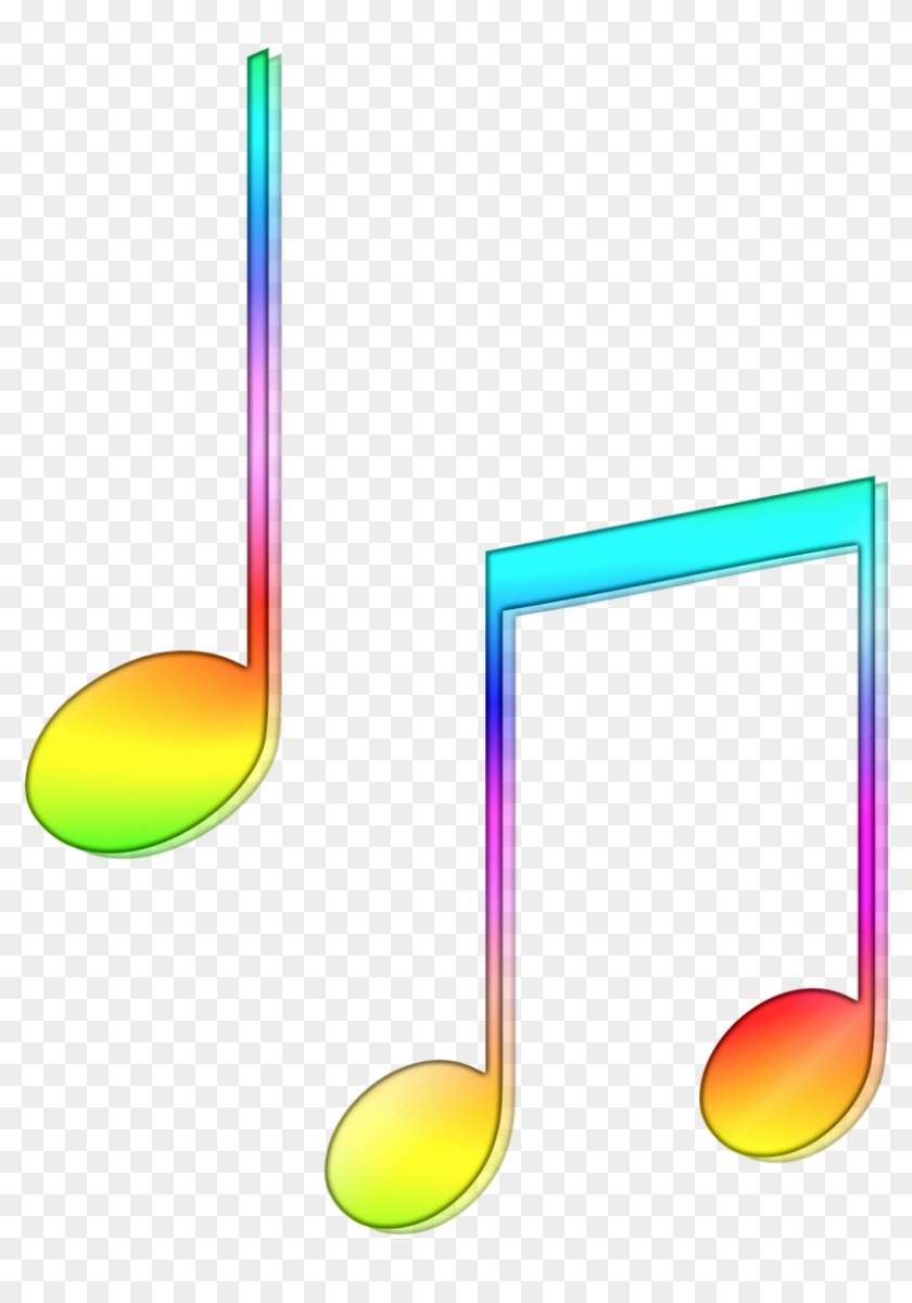 Colourful Musical Notes - Colored Music Notes Png Clipart #2508883