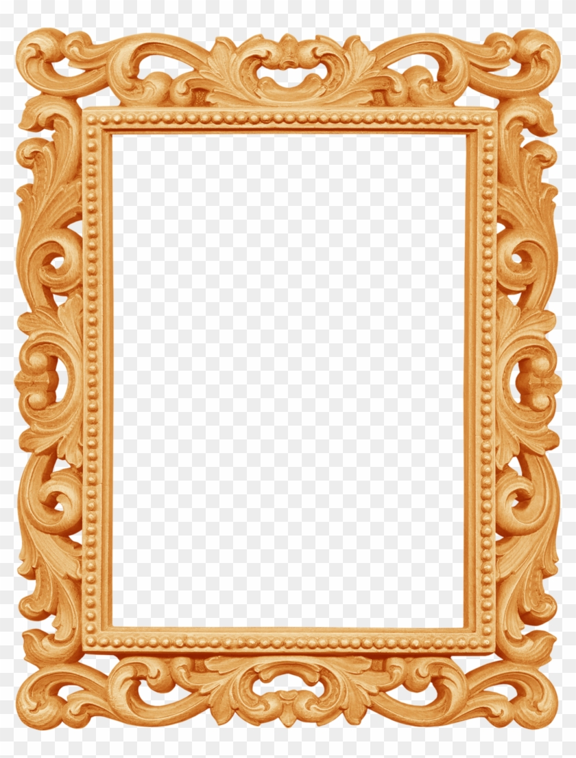 B *✿* Gold Picture Frames, Ornaments Design, Wedding - Fancy White Photo Frames Clipart #2511928