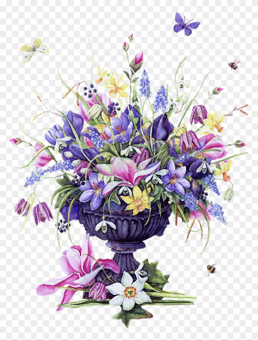Vintage Images Flowers Birds - Vintage Flower Flower Vase Png Clipart #2517379