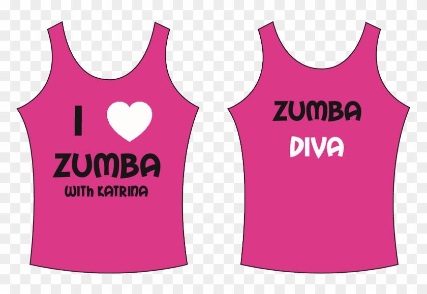 Pink 'i ♥ Zumba With Katrina' Vest Top - Active Tank Clipart #2519203