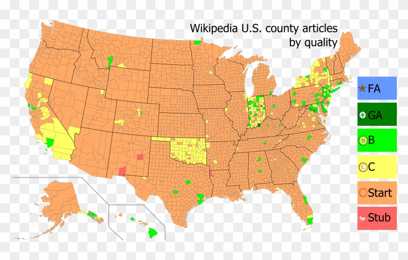 Svg Map Showing Class Assessment Of Each County As - United States Map In Purple Clipart #2525828