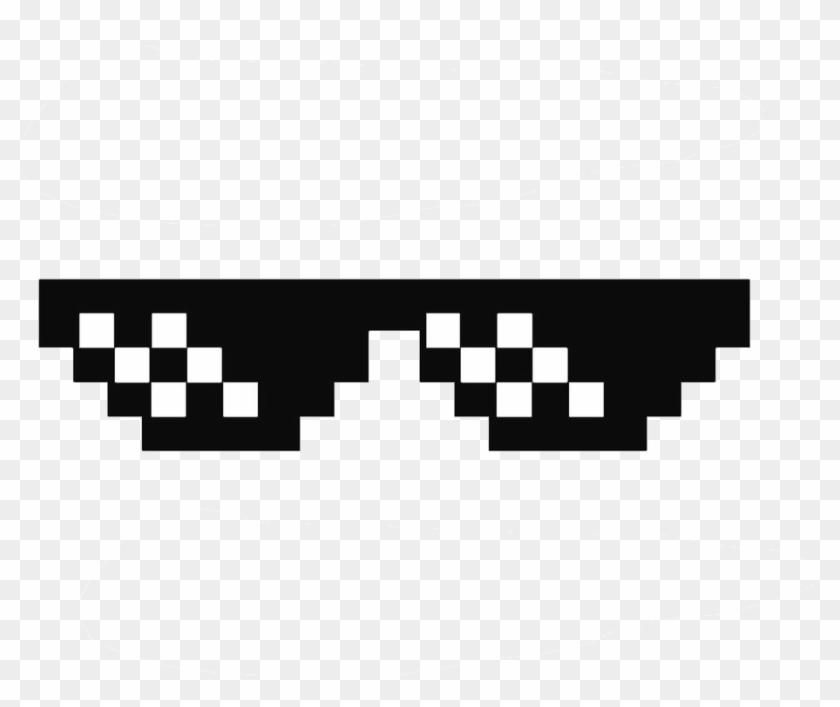 Deal With It Glasses Thug Life Sunglasses By Swagasaurus - Minecraft Sunglasses Clipart #2527228