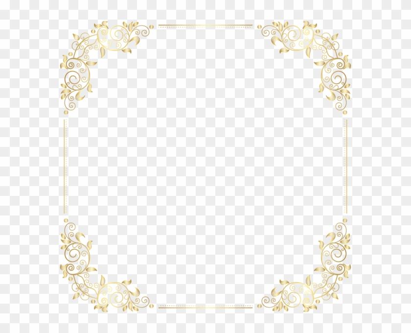 Deco Border Frame Png Clip Art - Art Deco Frame Png Transparent Png #2538790
