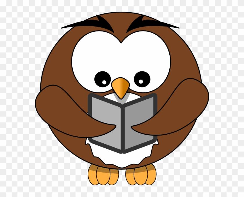 Reading Owl Clip Art , Png Download - Reading Owl Clip Art Transparent Png #2541451