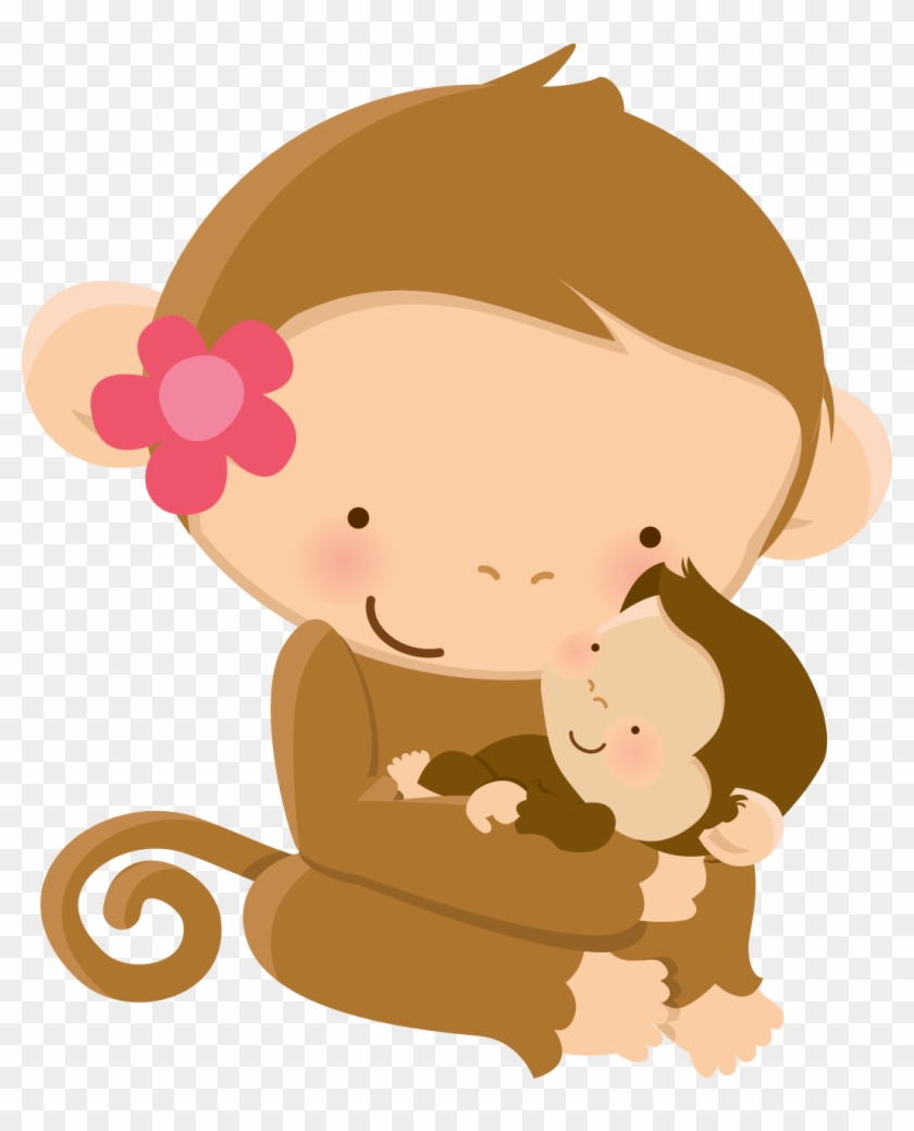 Mother's Day Clip Art, Cute Animal Clipart, Monkey - Mother And Baby Animals Clipart - Png Download #2545926
