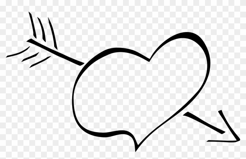 Heart Arrow Love Cupid Png Image - Heart With Arrow Clipart Transparent Png #2557318