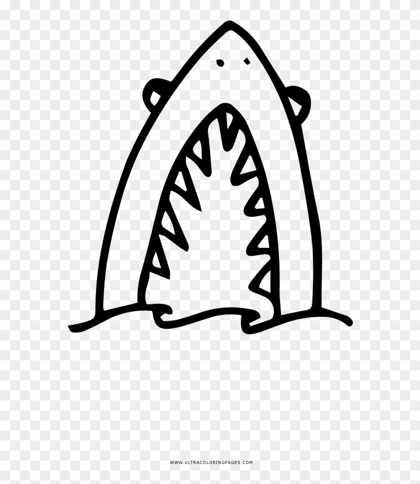 Shark Attack Coloring Page Clipart #2557889