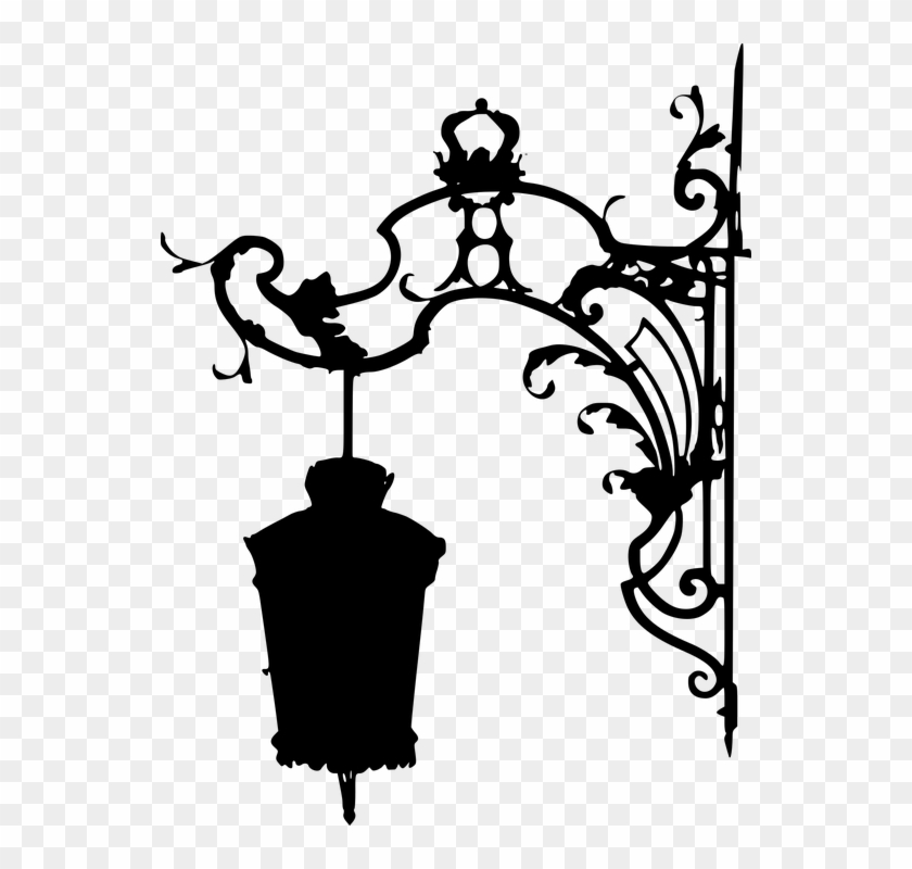 Silhouette, Replacement Lamp, Lantern, Candle, Lighting - Lamp Post Png Draw Clipart #2574178