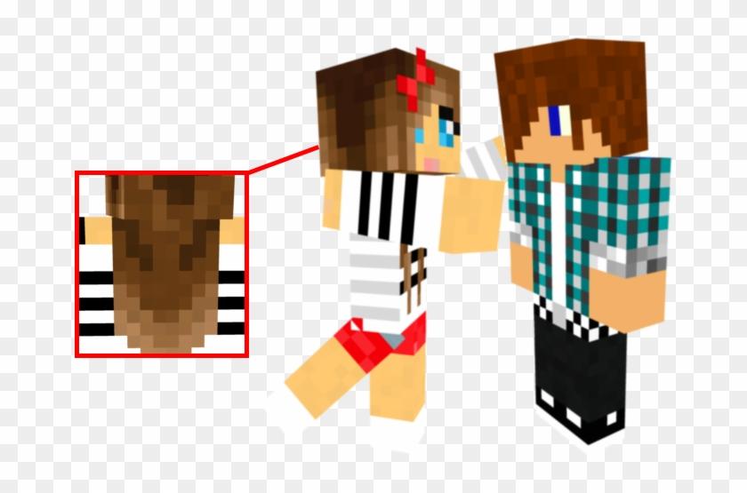 Mhsdrypng - Minecraft Skins Girl And Boy Clipart #2578480