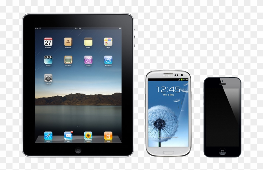 Cell Phone Repairs - Ipad Vs Iphone Screen Size Clipart #2587775