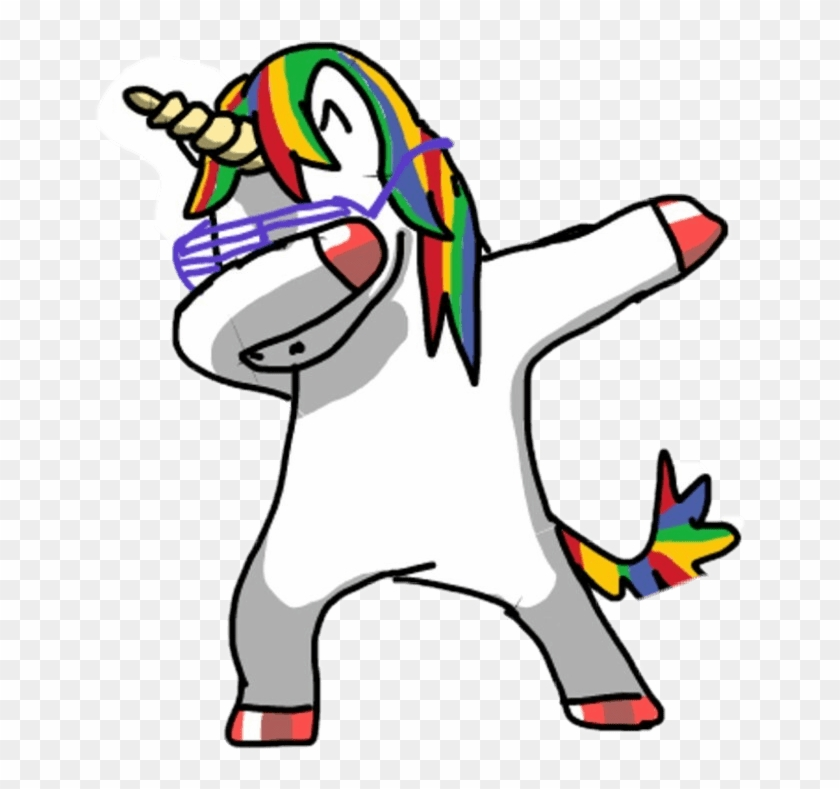 Popular And Trending Dab Stickers On Picsart - Emoji Imagenes De Unicornios Clipart #2587867