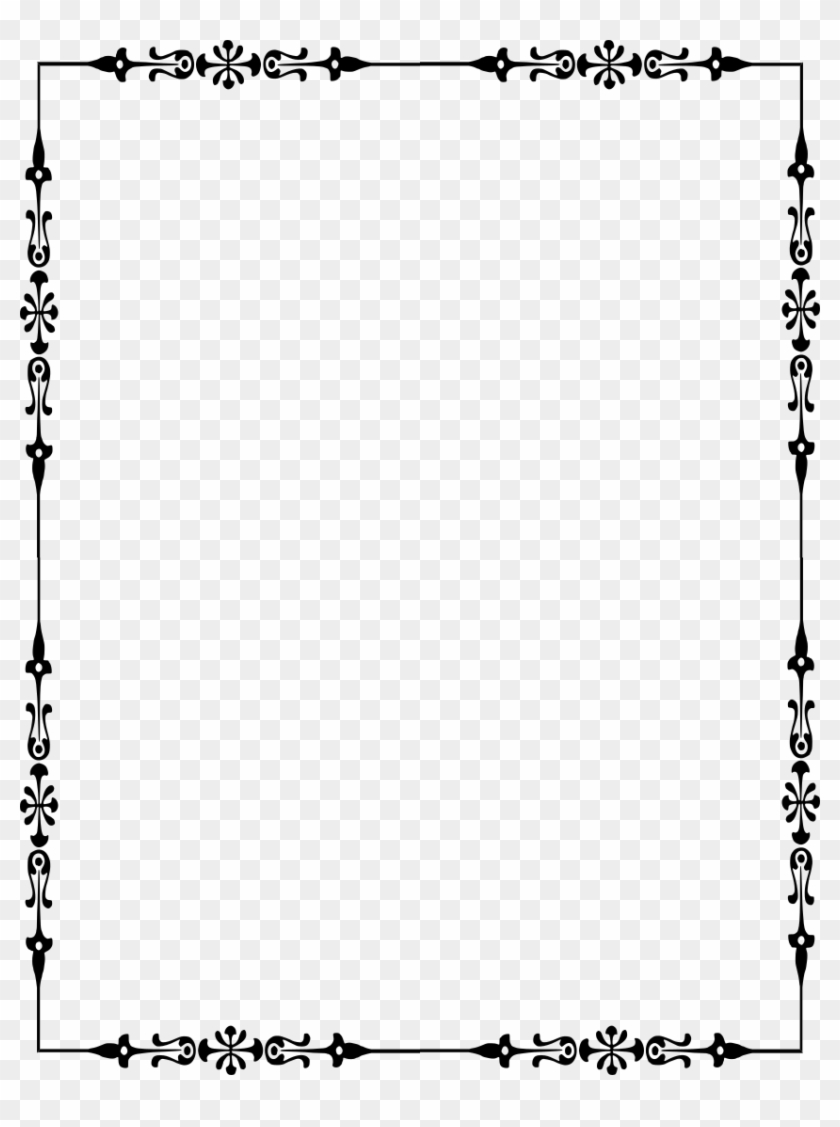 Source - Www - Wpclipart - Com - Report - Victorian - Black And White Star Border - Png Download #2594032
