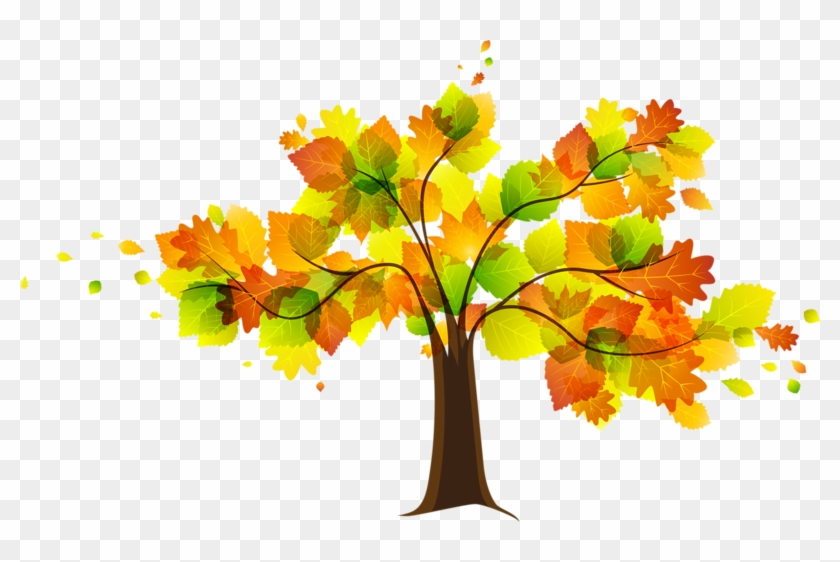 Autumn Fall Leaves Clipart Free Clipart Images 4 Clipartcow - Fall Trees Clip Art - Png Download #263243