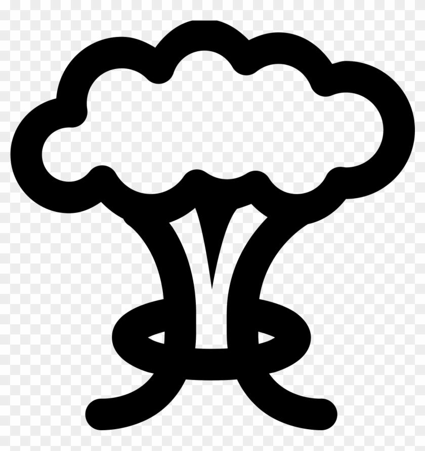 Vector Mushroom Vector Black And White - Mushroom Cloud Vector Free Clipart@pikpng.com