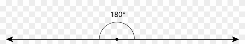 A 180∘ Angle Is Called A Straight Angle Because When - Angle On A Straight Line Clipart #264527
