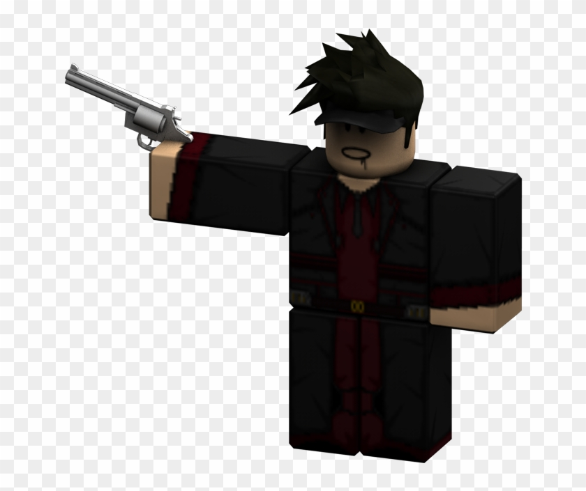 Roblox Player With Gun Png Rendered Revolver Roblox Guy With Gun Png Clipart 264531 Pikpng