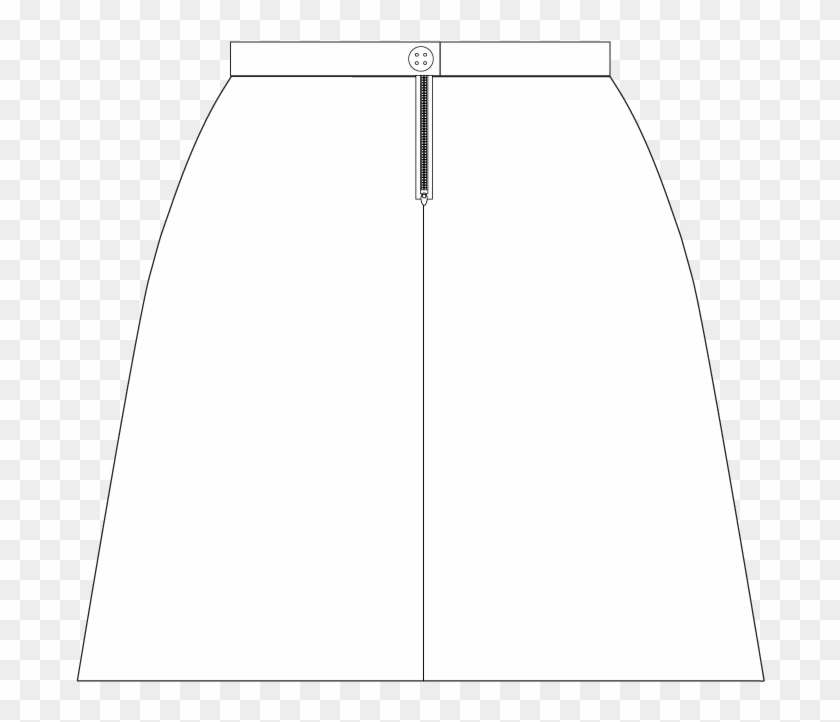 Back Line Drawing Of A Straight Line Skirt - Architecture Clipart #265032
