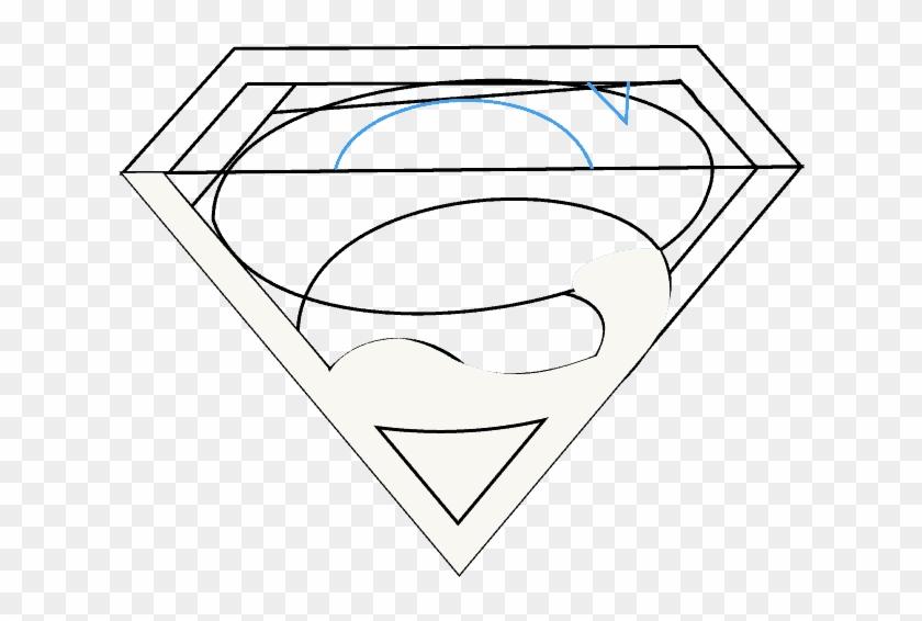 Superman Logo Clipart Straight Line - Line Art - Png Download #265101