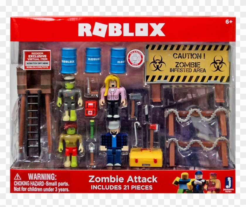 Zombie Attack Playset Eb Games Zealand Roblox Toy Zombie Attack