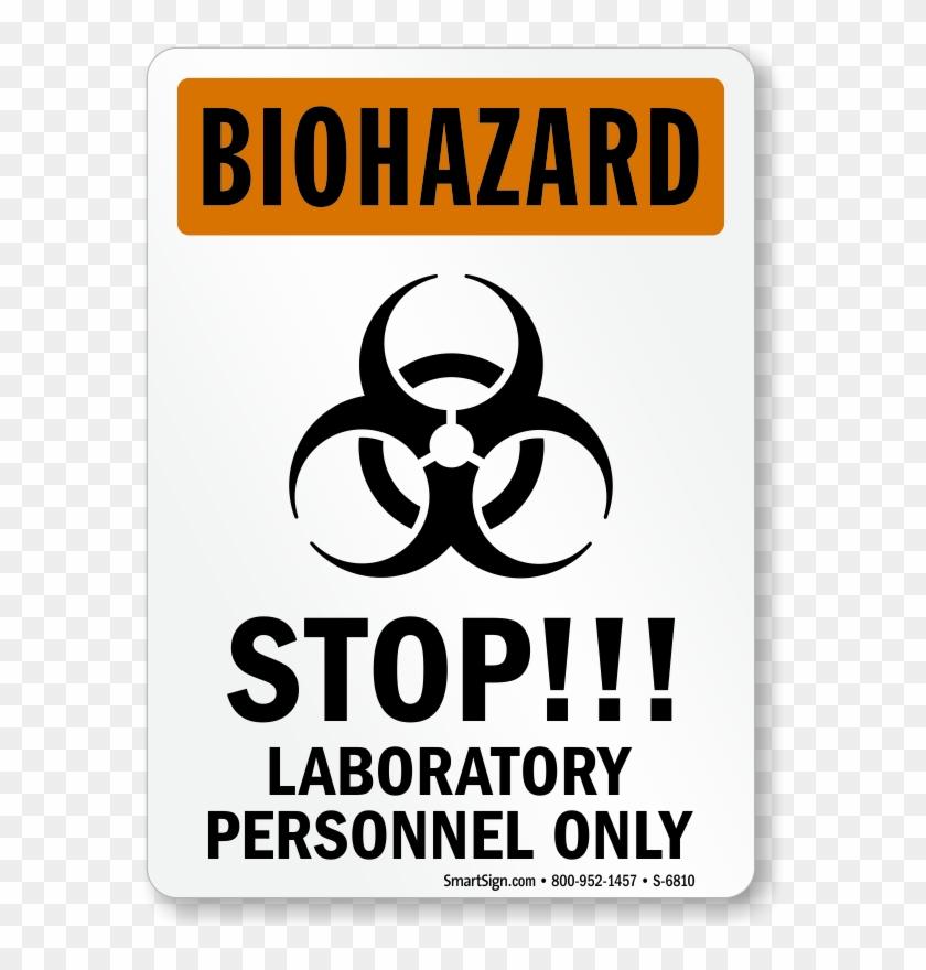 Osha Biohazard Warning Sign - Laboratory Signs Clipart #266919