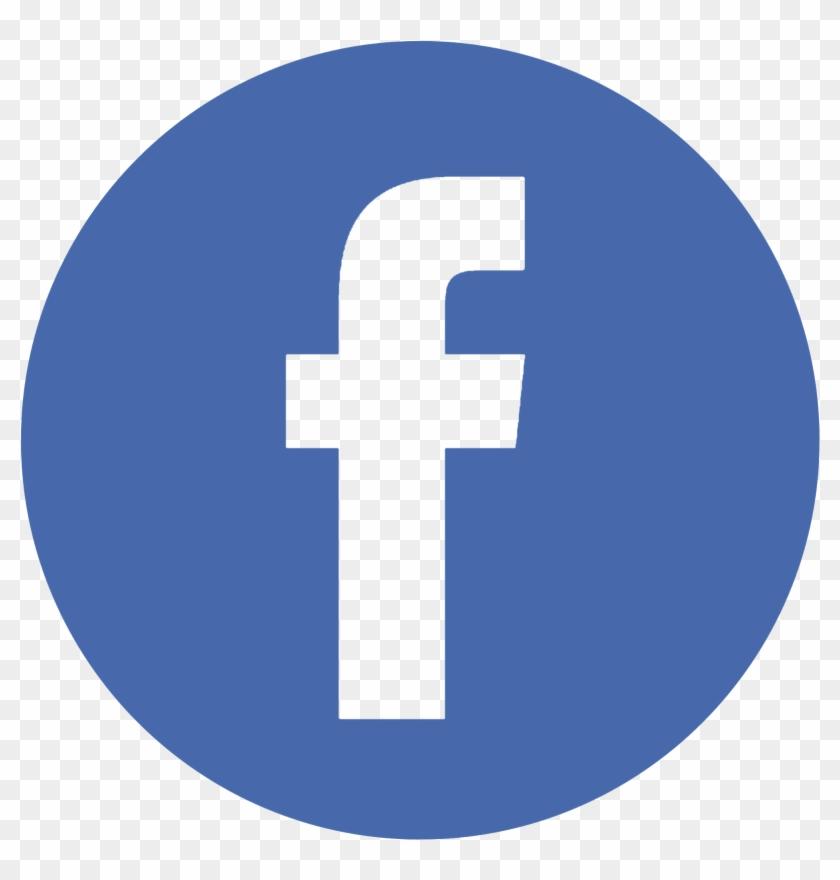 Facebook Twitter Instagram Pinterest - High Resolution Facebook Logo Circle Clipart #268003