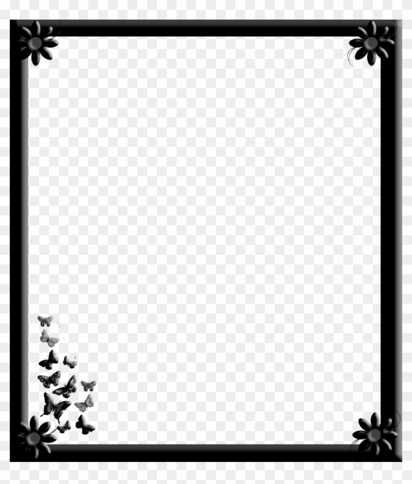 Gothic Flower Border Design - Gothic Free Frame Png Clipart #2604360
