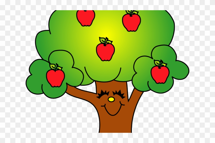 Apple Cute Tree Clipart - Png Download #2605287