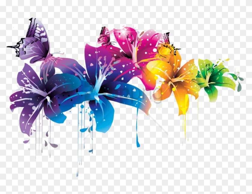 Free Png Download Colorful Background Designs Png Png - Flower Png Transparent Abstract Clipart #2605918