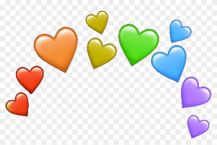 Rainbow Hearts Heart Arcoiris Corazones Corazon Corazón - Transparent Hearts Ios Emoji Clipart #2606020