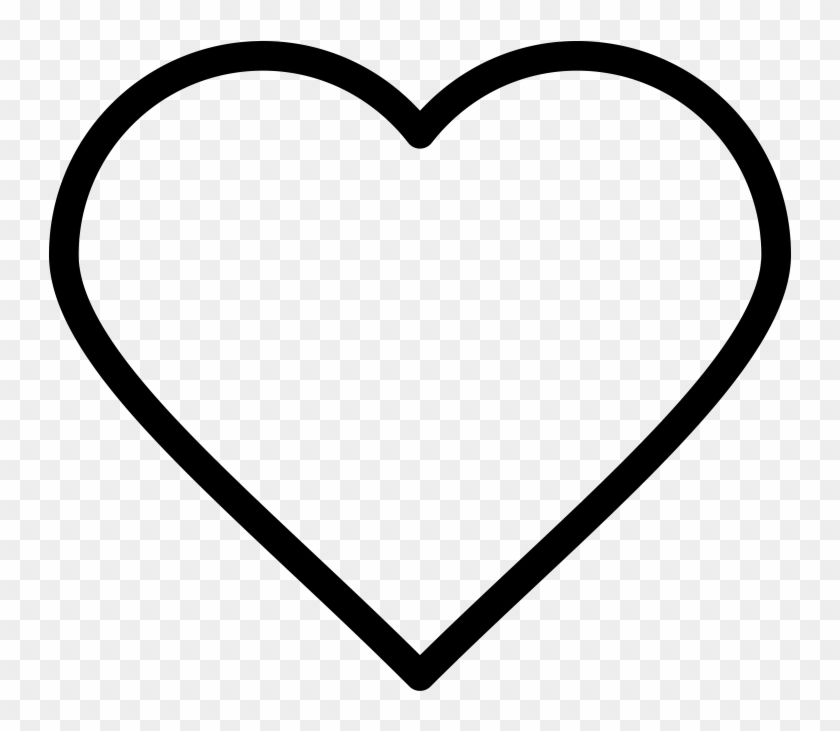 Heart Line Icon - Heart Emoji Coloring Pages Clipart #2610084