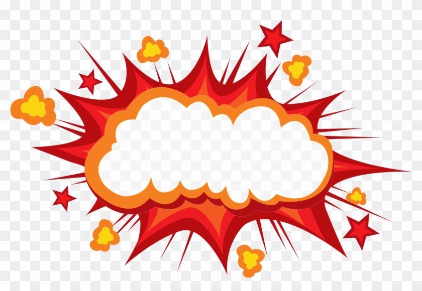 Comic Book Explosion Png , Png Download - Explosion Cartoon Clipart #2616940