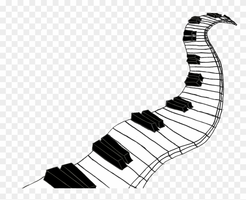 Piano Drawing Design - Piano Keys Drawing Png Clipart@pikpng.com
