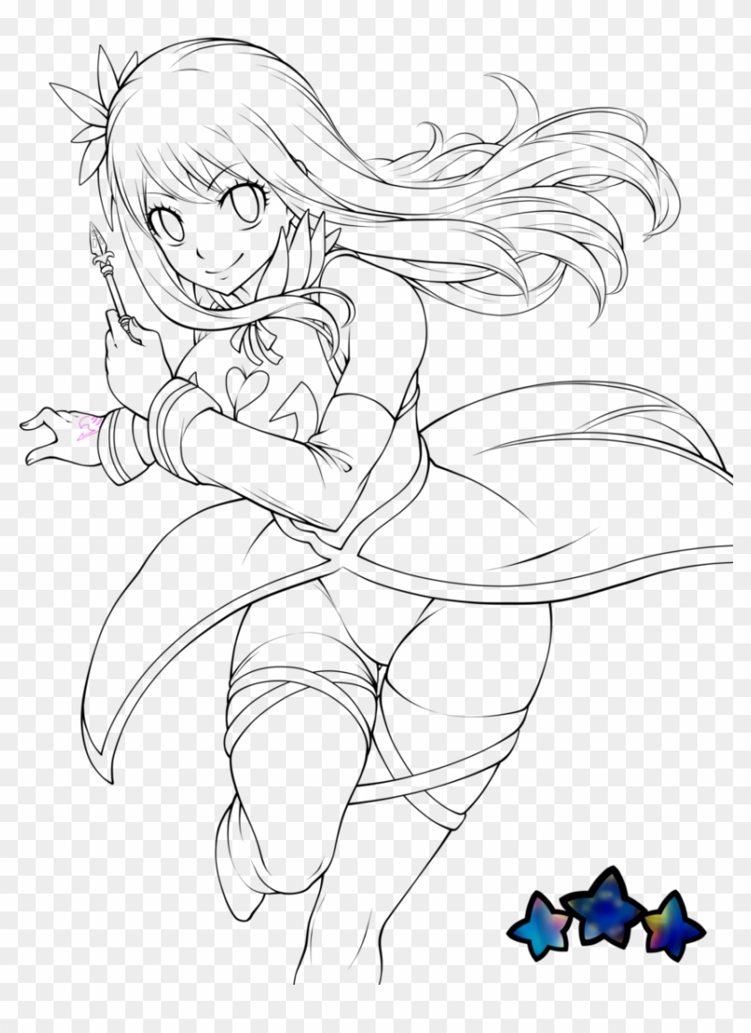 Lucy Heartfilia Coloring Pages Clipart 18   PikPng