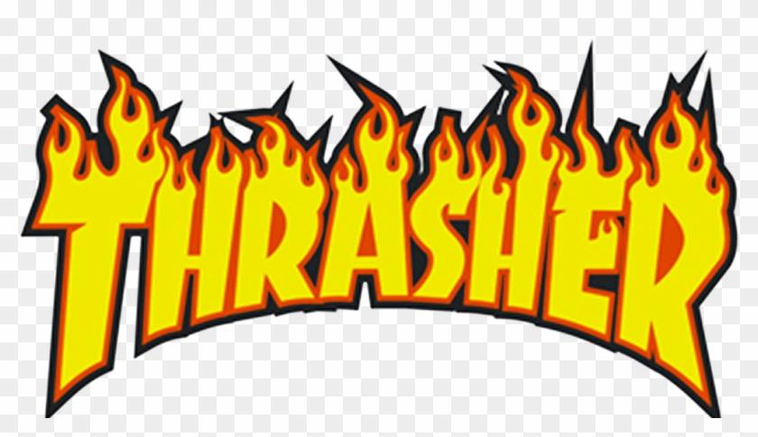 Thrasher - Phantomforsnapchat - Supreme T Shirt Roblox Clipart@pikpng.com