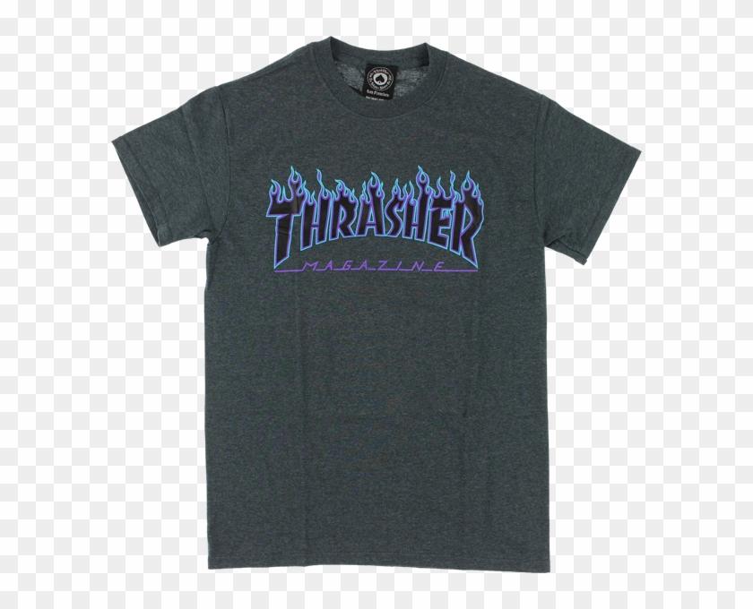 Roblox Thrasher T Shirt Template Thrasher Magazine Flame Logo T Shirt Thrasher Blue And Grey Clipart 2619547 Pikpng