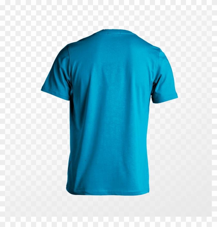 Blank T-shirt Png Image - T Shirt Blue Back Clipart #2636435