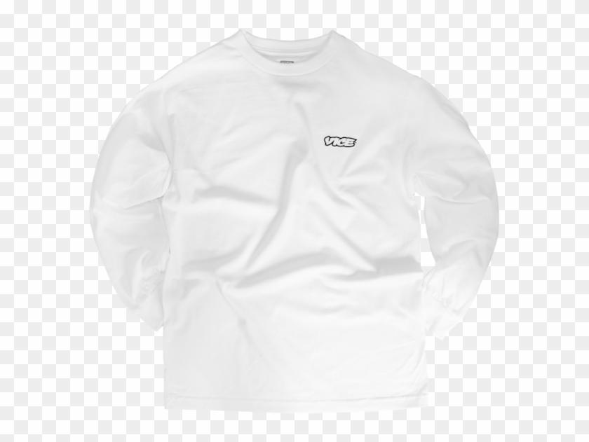 Vice Classic White Long Sleeve T Shirt $35 - Long-sleeved T-shirt Clipart #2639524