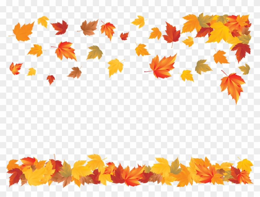 A Carpet Of Falling Leaves - Transparent Background Thanksgiving Border Clipart #2648131