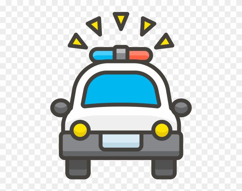 """Oncoming Police Car Emoji Icon ʲ½ì°°ì""""œ Png Clipart 2648734 Pikpng"""