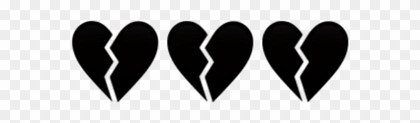 #aesthetic #tumblr #black #heart #broken #heartbreak - Aesthetic Black Heart Png Clipart #2651179