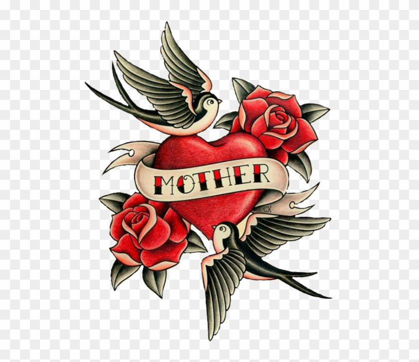 Png For Free Download On Mbtskoudsalg - Sailor Jerry Mom Heart Tattoo Clipart #2657822