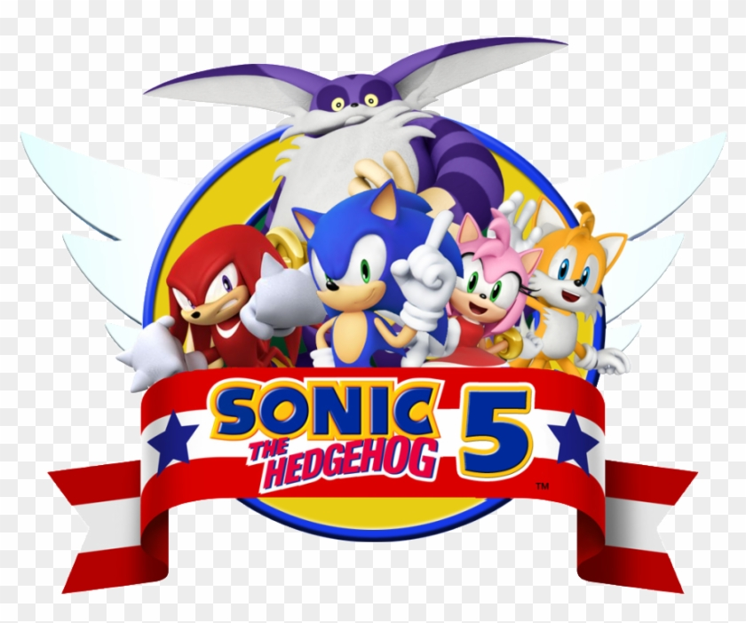 Sonic, Tails, Knuckles, Amy Photo - Sonic The Hedgehog 4 Episode 1 Logo  Clipart (#2671824) - PikPng