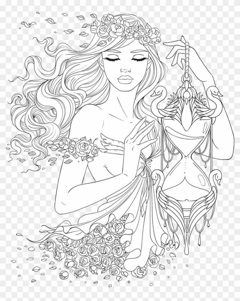 Line Artsy Free - Beautiful Women Coloring Pages For Adults Clipart #2672269
