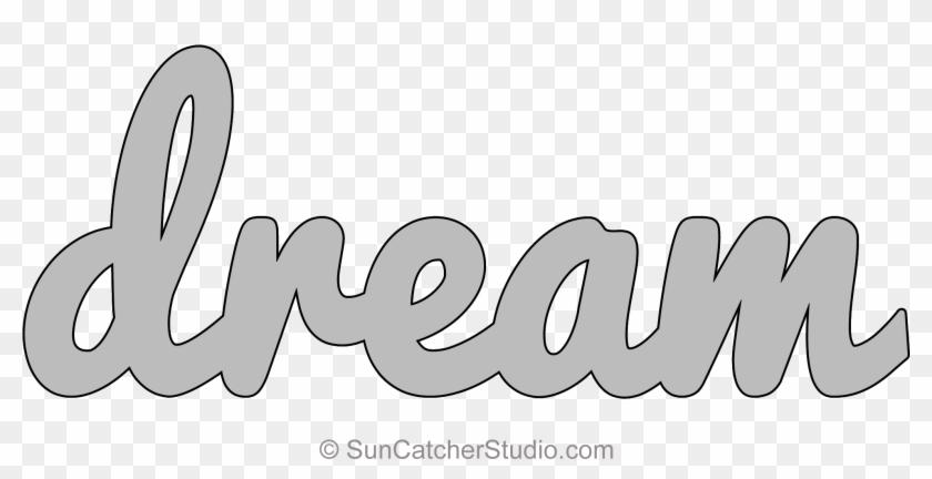 Dream Pattern Template Stencil Printable Word Art Design - Stencil Template For Word Art Clipart #2674101